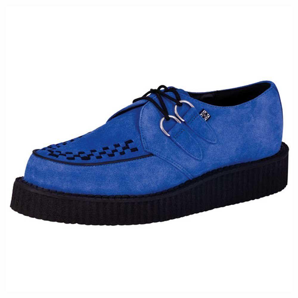 T.U.K. A8282 scamosciata TUK Shoes Mondo Lo Sole Creepers pelle scamosciata A8282 blu elettrico Bordello f50149