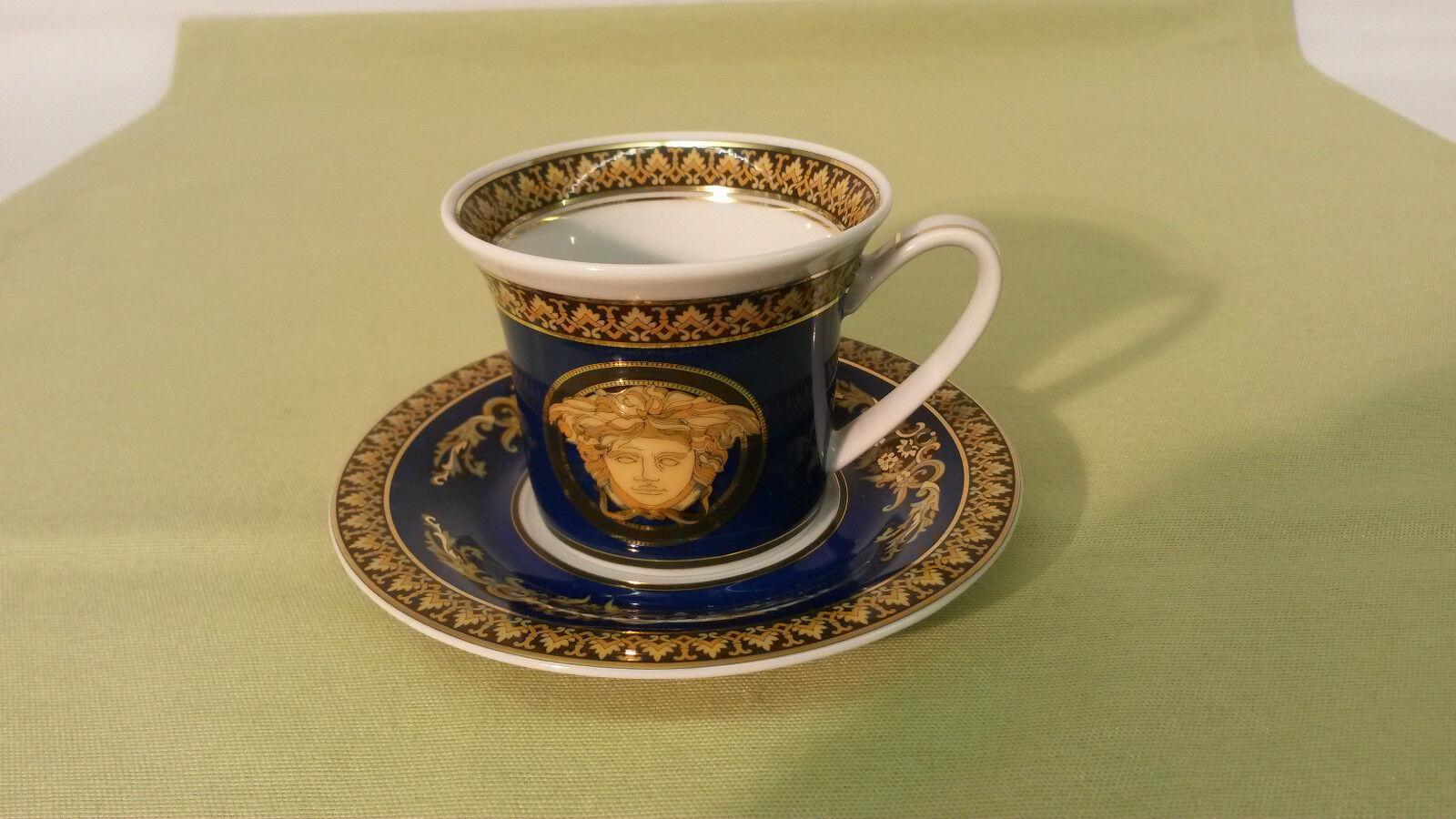 ROSENTHAL VERSACE-porcelaine-Méduse bleu Moka-, Espresso Tasse-Neuf