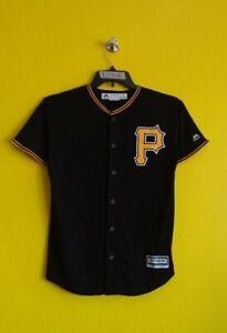 PITTSBURGH PIRATES #27 JUNG-HO KANG MAJESTIC MLB COOL- BASE JERSEY BOYS - L