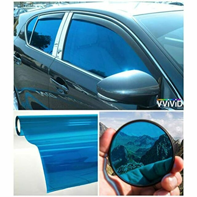VViViD Colorful Transparent Vinyl Car Window Tinting 30 Inch X 60 2 Roll Pack