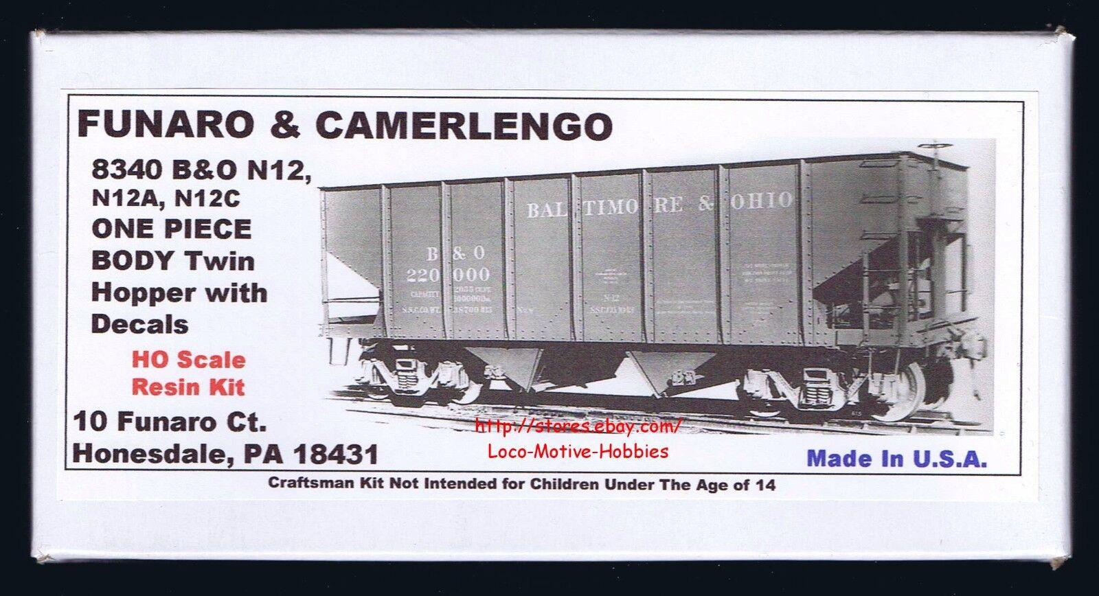 LMH Funaro F/&C 8420  CHESAPEAKE OHIO 50 Ton C/&O H5-27 BABY Triple HOPPER 1 Piece
