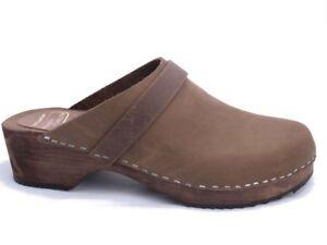 ORIGINALE-sabots-de-Suede-pour-hommes-210brun-cuir-gras-couleur-marron