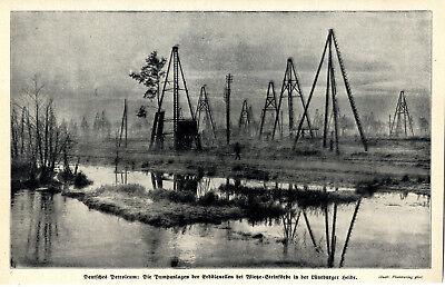 Pumpanlagen Der Erdölquellen Bei Wietze-steinförden C.1912 Novel In Design; Generous Deutsches Petroleum