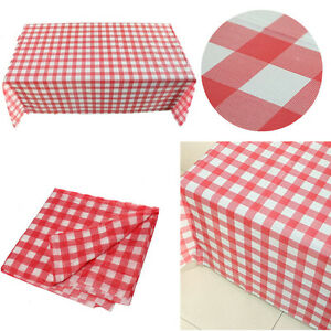 Image Is Loading Gingham Plastic Temporary Disposable Check Table Cover Cloth