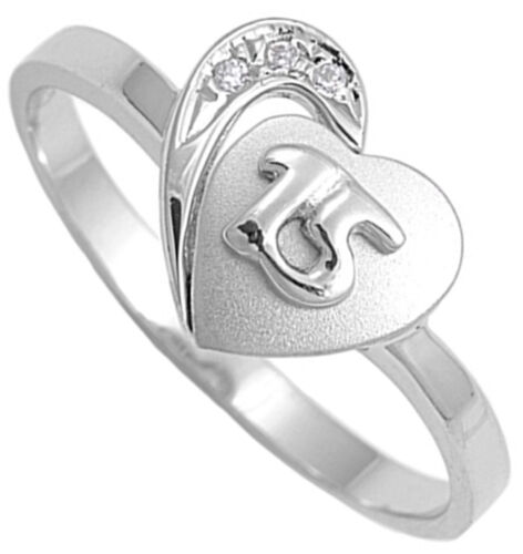 Sterling Silver Girl/'s Quinceañera 15th Birthday Ring Love Band 11mm Sizes 4-9