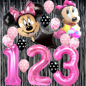 Details About 1st Balloon Girl Minnie Mouse Birthday Party Baby Shower Decorations Supplies