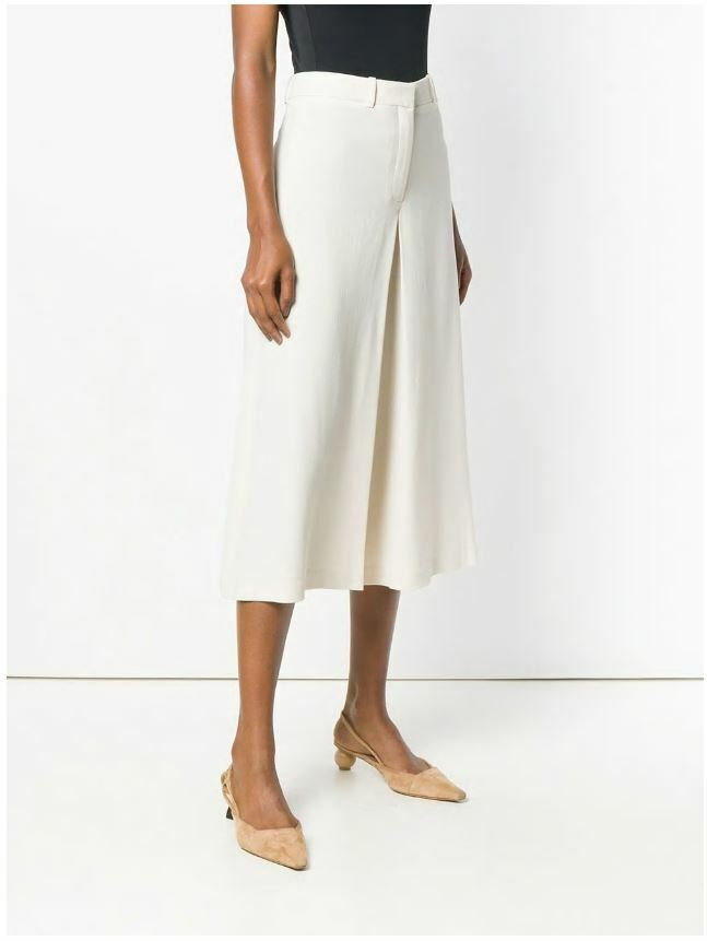 NWT Theory Skirt Trouser Crop Wide Leg Culottes Pants, Shell Weiß Größe 4,6  355