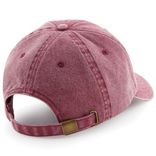 Mens Womens Vintage Baseball Cap Denim Hat Brushed Washed Cotton Low Profile