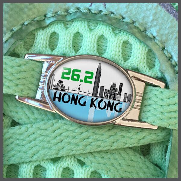 Hong Kong China 26.2 Marathon Runners Shoelace Shoe Charm or Zipper Pull