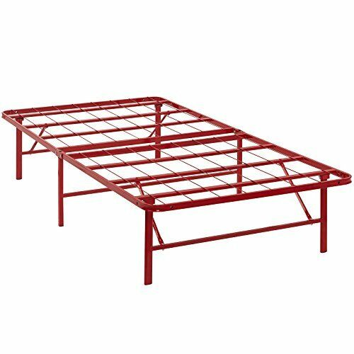 Folding Portable Me Replaces Box Spring Modway Horizon Twin Bed Frame In Red