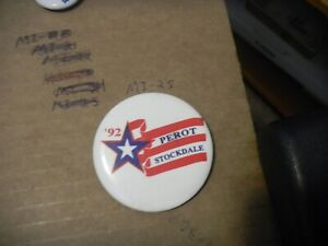 Presidential Campaign Pin Back Ross Perot President 1992 We The People Button