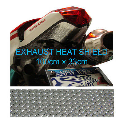 Motorcycle ATV Car Fairing Exhaust Self Adhesive Aluminium Heat Shield 100x 33cm