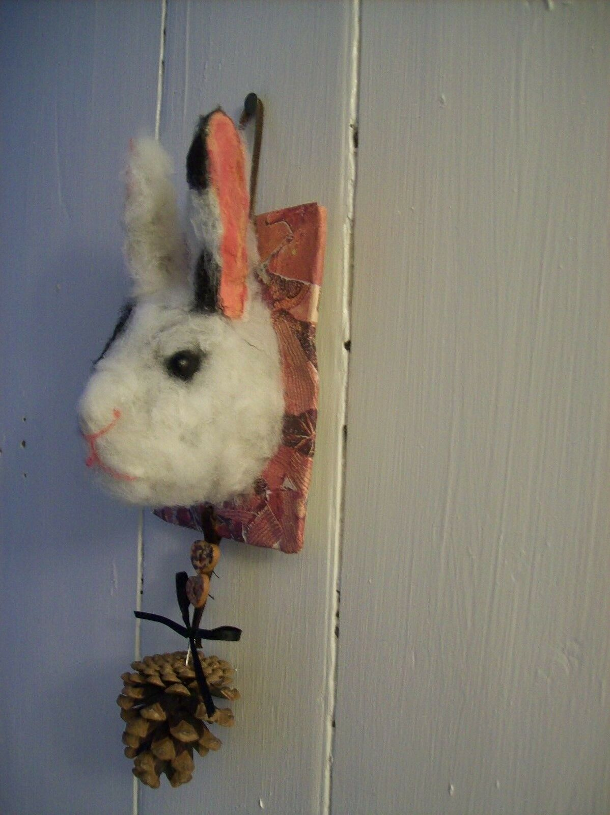 Rabbit - OOAK artists rabbit. Wall Wall Wall hanging. f0675e