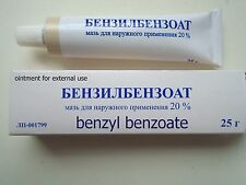 Benzyl Benzoate ointment, 20%, 25 gr, Scabies Lice Treatment, Antiparasitic