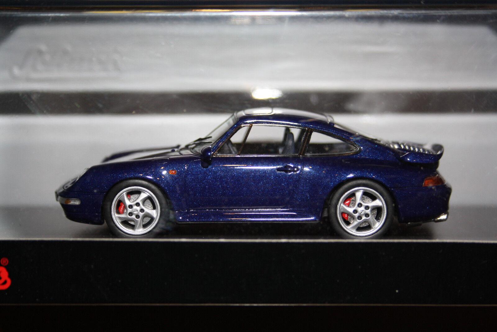 Schuco Porsche 911 Turbo bleu pror 43 Nº 450887500