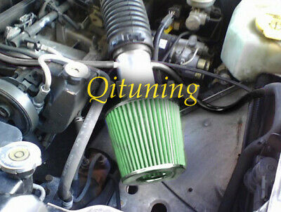 Black Green Air Intake Kit /& Filter For 88-96 Jeep Cherokee Laredo Country 4.0L