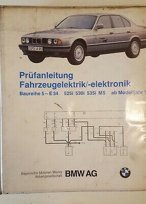 Original Schematics Wiring Diagrams Bmw 525i 530i 535i M5 E34 1988 1989 Ebay