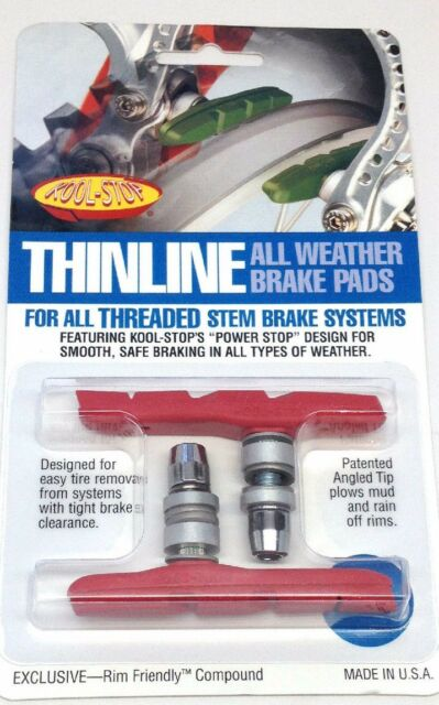 Kool Stop Thinline threaded brake pads grey all weather compound V brake