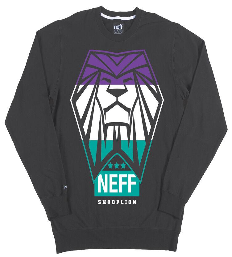 BRAND Crew NEW W/TAGS Neff SNOOP LION DOGG TRIUMPH Crew BRAND Sweater grigio MEDIUM-2XLARGE 04a8c9