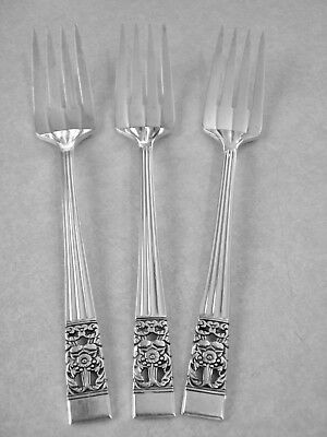 "4 Oneida Community Coronation Pattern Silverplate Flatware 6-3//8/"" Salad Forks"