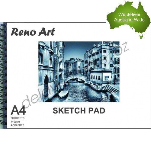 1 of 1 - A4 Sketch Pad 140gsm Atrist Painting Art Paper Sketchbook  Drawing Craft Pastel