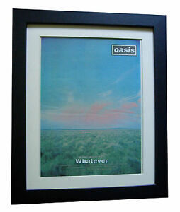 OASIS-Whatever-Definitely-POSTER-AD-RARE-ORIGINAL-1994-FRAMED-FAST-GLOBAL-SHIP