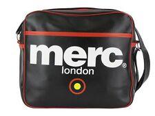 MENS MERC LONDON TARGET MESSENGER FASHION AIRLINE BAG - BLACK