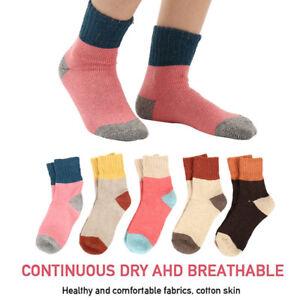 746|chaussette femme-Hiver-Laine-fille-chausette chaude-Hauteur genoux-bas-coton