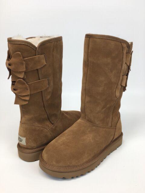 ugg australia allegra bow chestnut boots 1