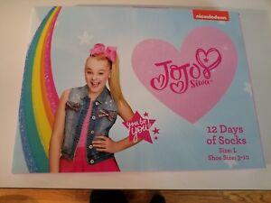L Girls NICKELODEON JoJo Siwa 12 Days Of Socks of CHRISTMAS Advent Box