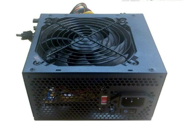 Gaming 750 Watt for Intel AMD PC ATX Power Supply SATA PCI-E 20//24 PIN 120mm Fan
