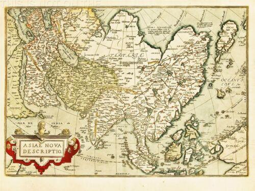 ART PRINT POSTER MAP HISTORY ASIA CHINA VINTAGE NOFL1485