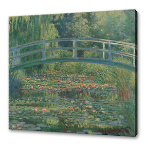 Claude-Monet-039-s-The-water-Lily-pond-classic-canvas-print-picture-wall-art-free