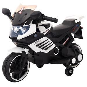 Kinder-Elektrofahrzeug-Elektro-Akku-Bike-Motorrad-mit-Stuetzraeder-LQ158-Weiss