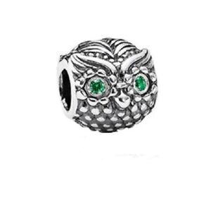 f927006f2 Pandora Charm Wise Owl Dark Green Cubic zirconia 791211CZN with gift ...