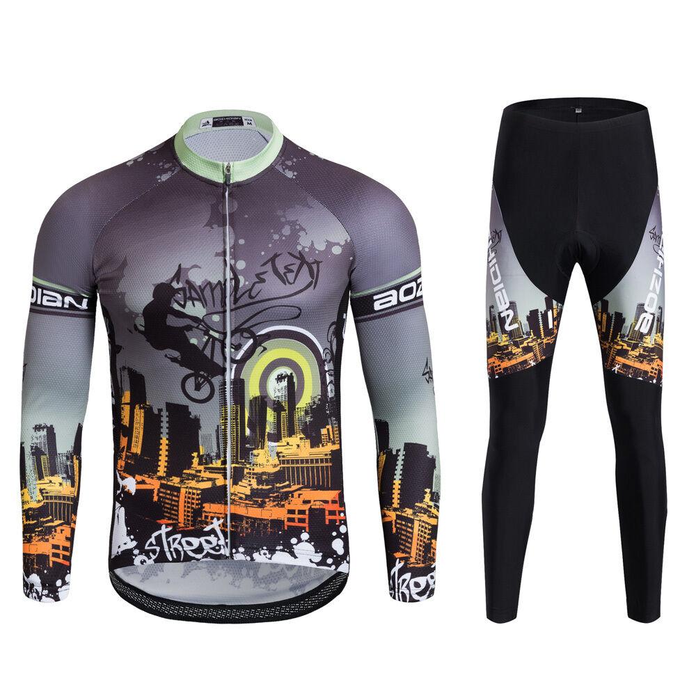 Twilight Cycling Jersey Long Sleeve Pants Men's Cycling Clothing Long  Kit S-5XL  beautiful