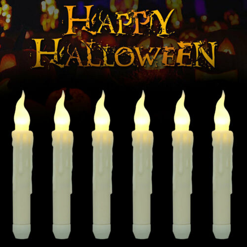 Flameless LED Candle Battery Operated Tea Light Flickering Halloween Decoration