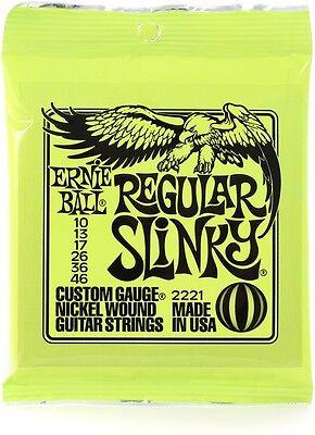 NEW Ernie Ball Regular Slinky Nickel Wound Set .010-.046 #P02221