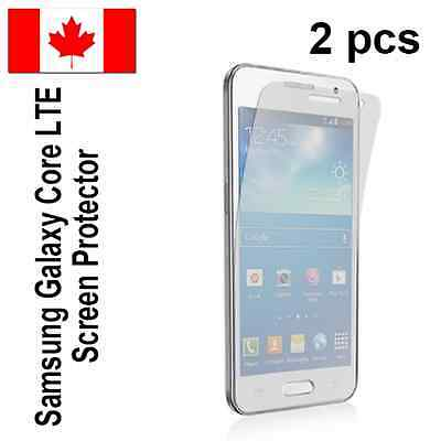 Two (2) Clear screen protectors for Samsung Galaxy Core LTE Free Shipping