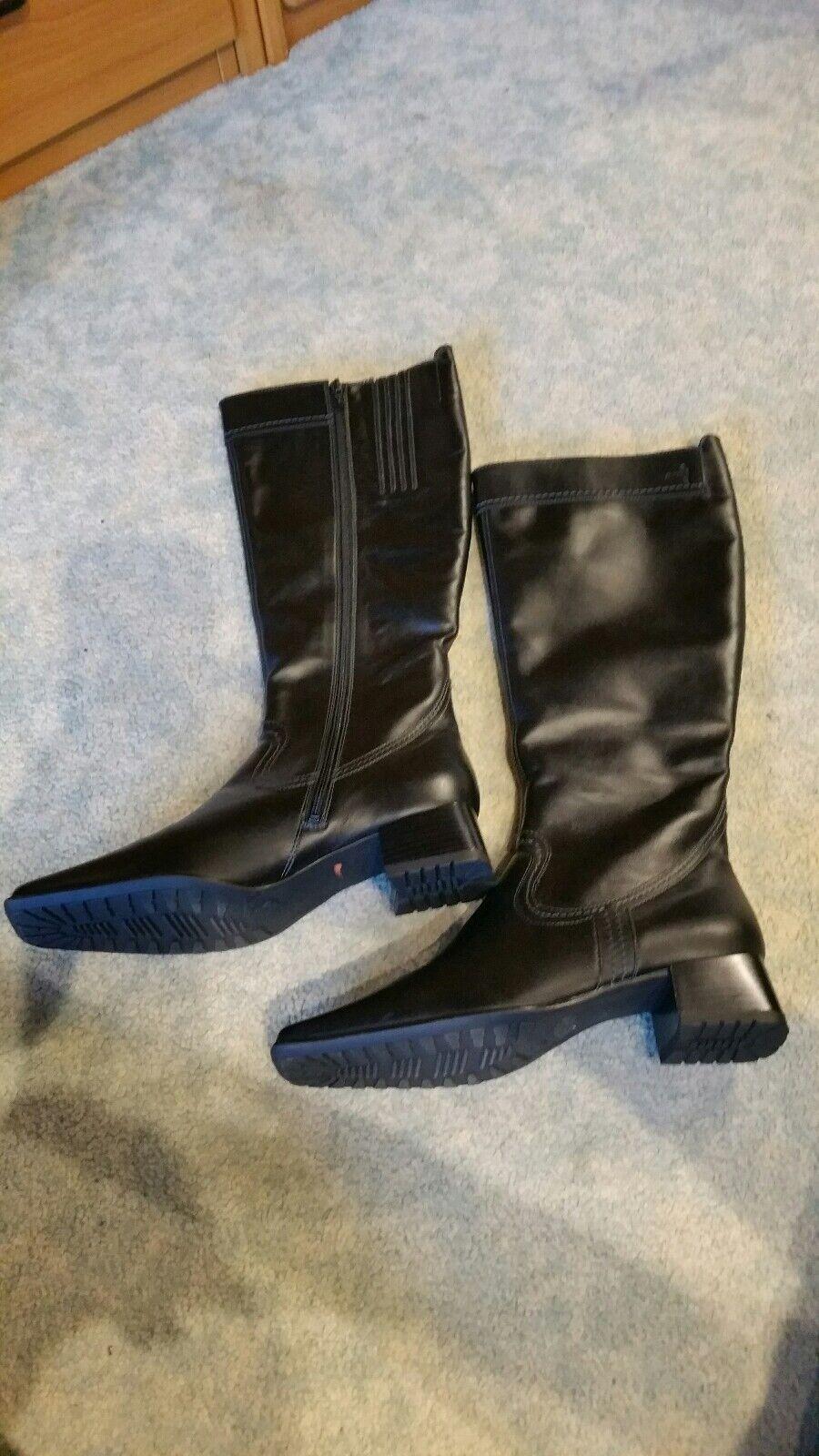 Ara Lederstiefel Stiefel Stiefel Stiefel schwarz neu Größe 38,5 bzw. 5 1 5   798c9c