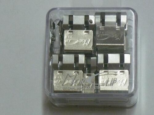 30 sheet pack of 50 Carl Mori Clip MC-52 paper clips Clip-on Clip-off Large cap