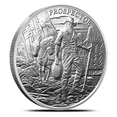 Prospector Series California Gold Rush Prospector 49er 1 oz Silver US BU Round