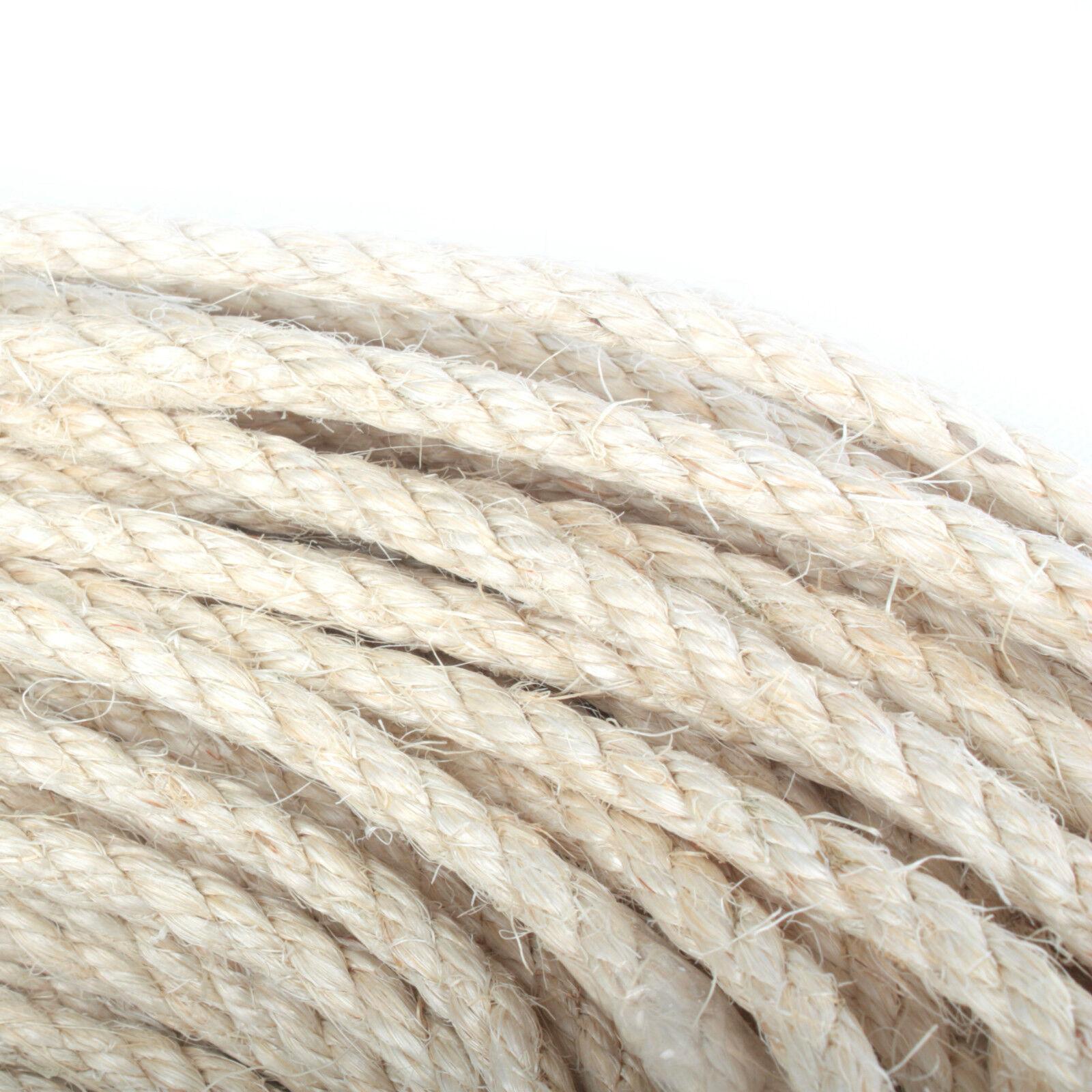 SISALSEIL Sisal Seil Seil Seil Naturseil Kratzbaum Sisalsäcke Leine Rope Ø 6 8 10 12mm 26b071