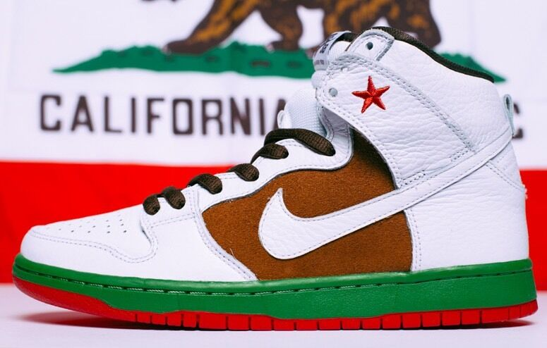 Nike California Dunk High SB New Size 11 DS PE Leather Cali What The