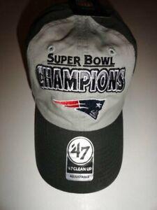 63836b2da3c NWT New England Patriots Super Bowl LIII  47 Clean Up Baseball Cap ...