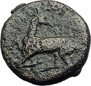 EPHESOS-in-IONIA-370BC-Authentic-Ancient-Genuine-Greek-Coin-BEE-STAG-i65059