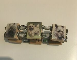 CAIRN-RESCUE-CHARITY-Rescue-Adorable-Well-Made-Bracelet-Cairns-Wood-Glass