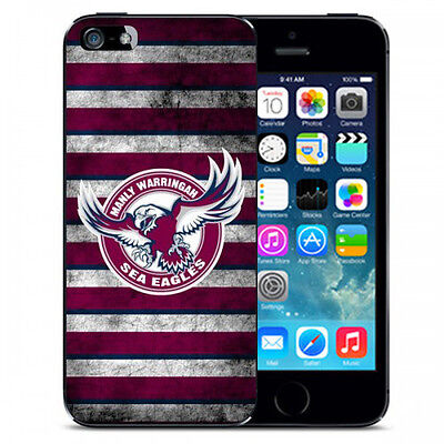 Licensed NRL Manly Sea Eagles Footy Team Back Case Cover for Apple iPhone 5C