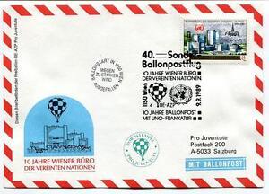 1989 Sonder Ballonpost N. 40 Pro Juventute Aerostato Oe-azp Onu Frankatur Wien