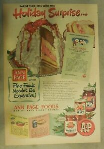 A-amp-P-Food-Ad-Ann-Page-Jams-Jelly-and-Preserves-from-1950-Size-11-x-15-inches